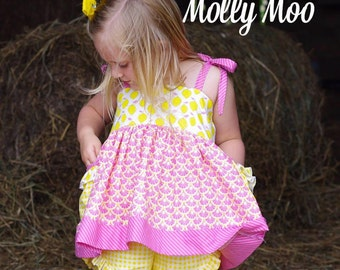 Pink Lemonade Tunic in sizes 6-12 months to girls size 12