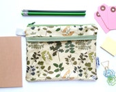 Field Guide to Trees Divided Pouch Small (handmade philosophy's pattern)