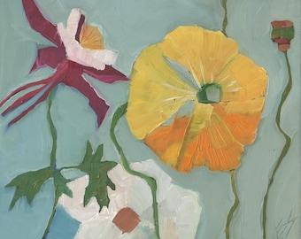 Flowers Original Oil Painting