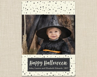 Halloween Photo Card. Happy Halloween