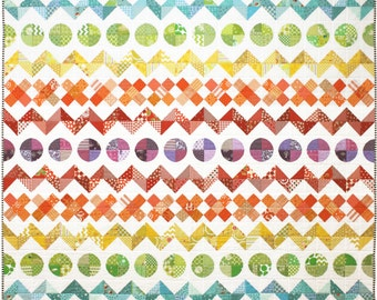Rainbow Row by Row Quilt Pattern PDF by Emma Jean Jansen - Immediate Download