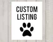 Private Custom Listing for Karissa