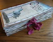Once Upon a Unicorn aged and distressed handsewn journal