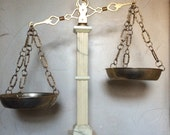 Vintage Scales of Justice Brass Scale Brass Balance Scale Marble Scale