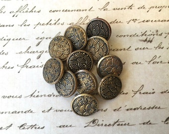 11 Pretty Vintage Metal Buttons