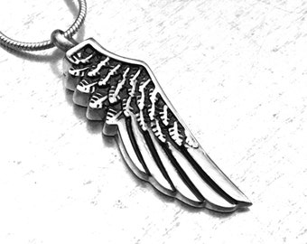 Angel Wing Cremation Necklace, Cremation Urn, Urn Locket, Cremation Locket, Memory Locket, Cremation Jewelry