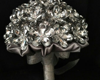 Crystal flowers bridal  bouquet