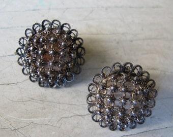Vintage filigree clip-on earrings