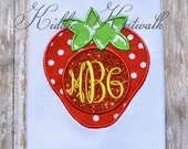 Adult Strawberry Monogrammed Boutique Shirt