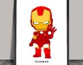 Ironman Poster.Superheroes Minimalist .Avanger Superhero poster, Wall art, Artwork, DC comics,Gift for him,Superhero Nursery,Nursery Decor