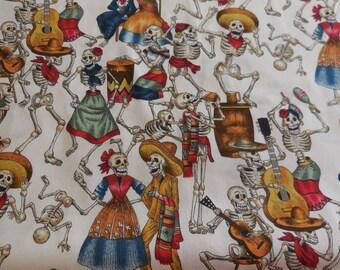 """Alexander Henry """"Fiesta de Los Muertos"""" Fabric 1 1/2 Yards"""