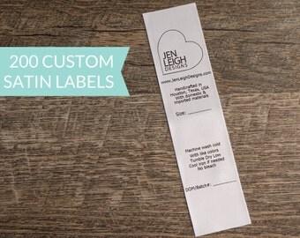 Qty 200 - White satin USA tracking label - custom tracking label - compliant tracking label