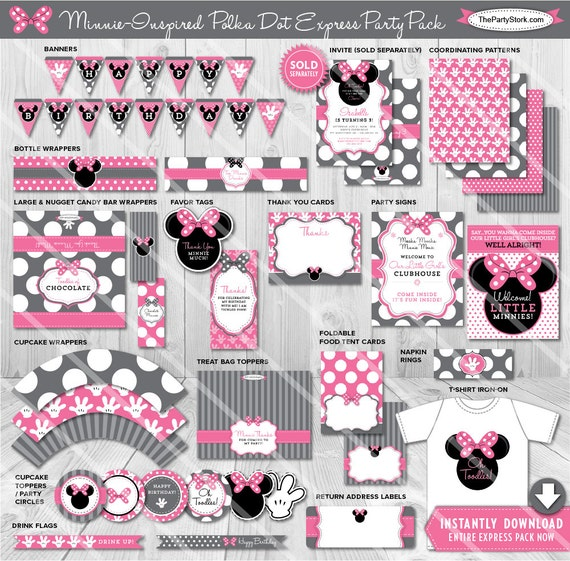 Minnie Mouse Party Decorations Minnie Mouse Party Ideas Printable
