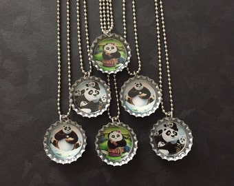 Kung Fu Panda Bottle Cap Party Favors (6) / add more for 2 dollars each