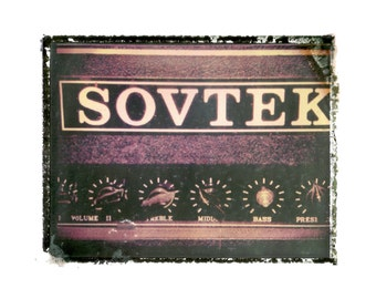 Sovtek guitar amp  art print / music gift / rock n roll art / music room decor / guitar gift / man cave art