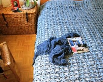 Bedspread * peacock *.