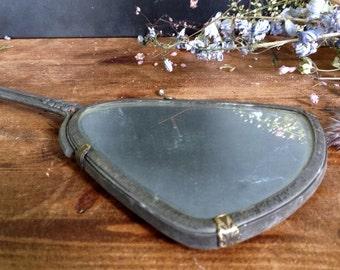 Antique Edwardian Hand Held Mirror