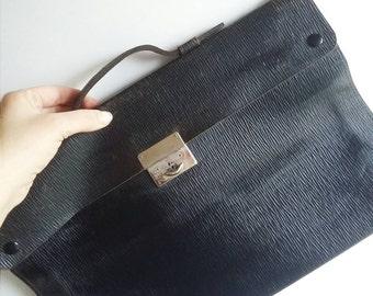 Danish Vintage Leather School Bag 1960s