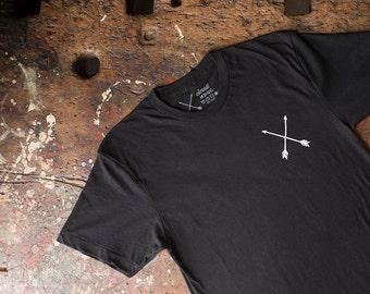 MD Quality Goods Original Crossed Arrows Logo T Shirt / Black