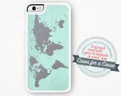 World Map iPhone 6 Case - Map iPhone 6S Case Vintage Map iPhone 6 Plus Case Map iPhone 5 Case Pastel iPhone 5 Case Map iPhone 5C Case
