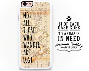 Tolkien iPhone Case Not All Those Who Wander are Lost LOTR iPhone Case iPhone 6 Case iPhone 5 Case iPhone 5S Case iPhone 5C Case 6 Plus