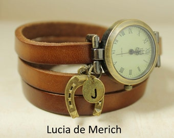 Horse lover wrapwatch - Horse lover gift - Horse watch - Horseshoe gift