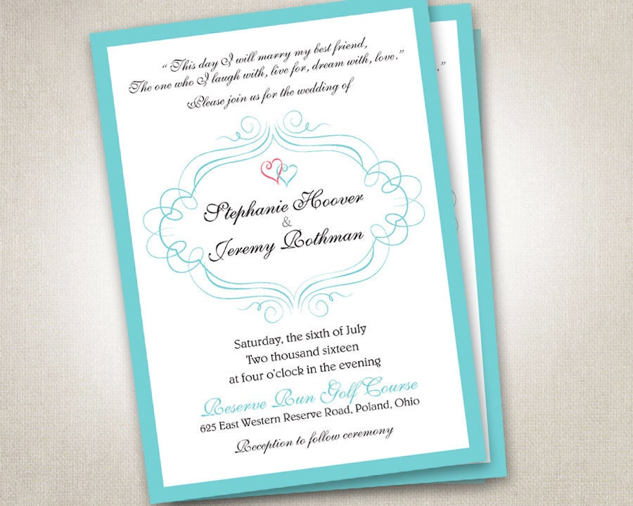 Wedding Invitations With Rsvp Postcards: Wedding Invitations Invites RSVP Cards Postcards Navy Mint
