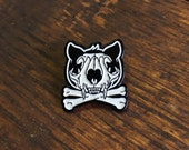 Catcore Pin - Enamel Cat Pin - Cat Skull