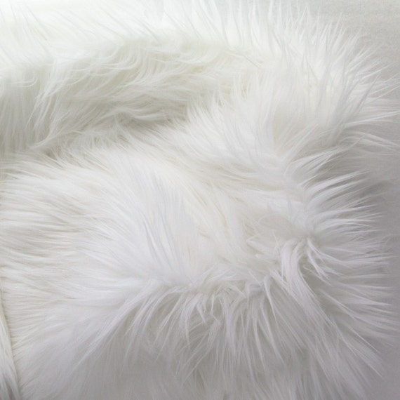 mohair 60 inch faux fur white fabric by the yard 1 yard. Black Bedroom Furniture Sets. Home Design Ideas