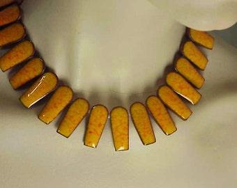 Rare Brondsted Danmark Modernist Necklace Earring Set 1950  Denmark