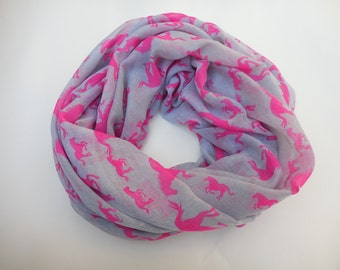 Pink horses, soft scarf.