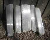 "17"" Selenite - 5 crystal Logs - ALL INCLUDED - free shipping usa"