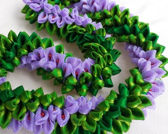 Purple majesty ribbon lei