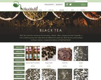 Herbal Tea, Coffee, Loose Tea Designer website, webpage
