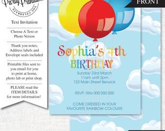 Balloon Party Invitation   Balloon Party Invitation Printable   Balloon Party   Party Printables