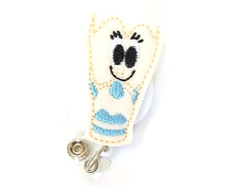 Lexie Larynx - Speech Pathologist Gift - SLP Badge Clips - Felt Organ Badge Reels - Cute Name Badge Holders - Organ Badge Pull - BadgeBlooms