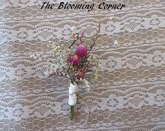 Boutonniere, Dried Wild Flower, Vintage Boutonniere, Weddings, Dried Boutonniere, groom boutonniere
