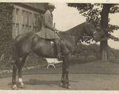 Huntswoman - Antique 1910s Equestrian Silver Gelatin Print Photograph