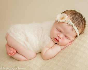 Newborn prop-Mohair silk knit loose wrap-Newborn baby wrap in mohair and silk wool-Photography prop