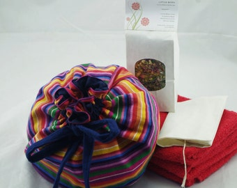 Rainbow Cotton Lotus Birth Kits - Lined