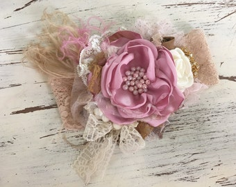 Baby Girl Headband- baby Headband- Flower Girl Headband- matilda jane- Persnickety Headband- Photo Prop
