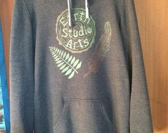 Earth studio arts grey hoodie dress