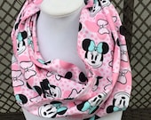 Pink Bow Minnie Mouse Circle Scarf