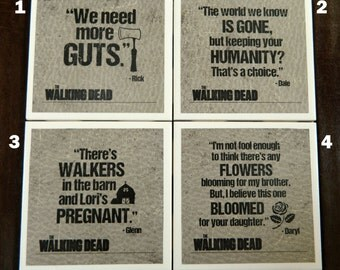 Walking Dead- 52 coaster designs available for you to make our own custom set of 4