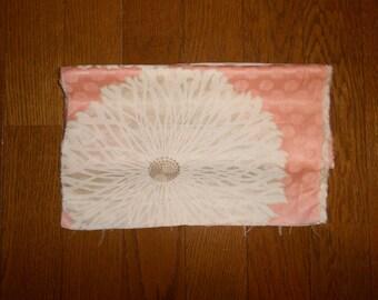 "SUMMER SALE 30%off!! Vintage kimono fabric - Rinzu silk, Big flower (H52"""": W12"")"