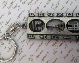 Key chain Vintage Made in France Large Detailed Signed