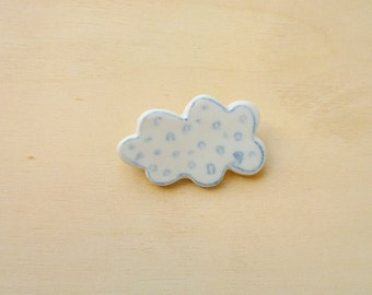 Hand made porcelain brooch