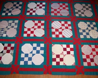 Antique Hand Done Quilt Top