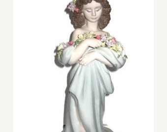 SALE Petals of Love by Lladro Retired Girl with Flowers