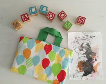 Crayon Art Folio - Balloons
